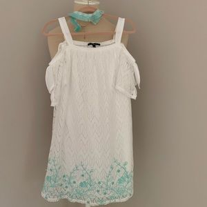 My Michelle White Lace Dress w Choker 10